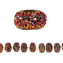 Bead Gallery Acrylic Rondelle, 10mm, Multi, Close Up