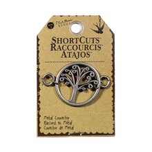 Blue Moon Beads ShortCuts Metal Connector, Tree