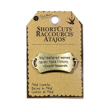 Blue Moon Beads ShortCuts Metal Connector, Roosevelt Quote