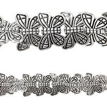 Bead Gallery Silver Plated Butterfly Beads, Close Up