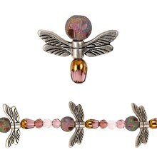 Bead Gallery Dragonfly Mix, Amethyst, Close Up