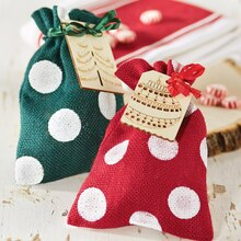 Burlap Polka Dot Packaging