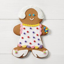 Dressed-Up for Christmas Gingerbread Girl