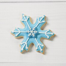Frosty Snowflake Christmas Cookies
