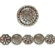 Bead Gallery Silver Plated Flower Scrolls, Close Up