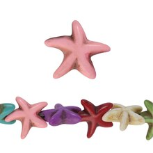 Bead Gallery Reconstituted Stone Starfish Beads, Multi, Close Up