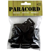 Parachute Cord Whistle Buckles, 20mm
