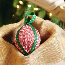 Twine & Ribbon Wrapped Ornaments