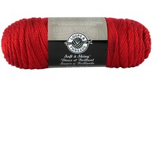 Loops & Threads Soft & Shiny Yarn, Red