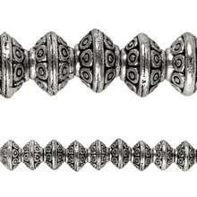 Bead Gallery Silver Plated Spotted Rondelle Beads, Close Up