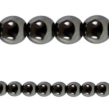 Bead Gallery Hematite Stone Beads, 10mm, Close Up