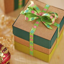 Scrapbook Paper Wrapped Gift Box