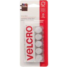 "VELCRO® Brand STICKY BACK™ Coins, 5/8"", medium"