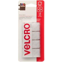 VELCRO Brand Sticky Back Squares, White, New Packaging