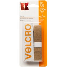 "VELCRO Brand Fabric Fusion Tape, 24"", Beige, New Packaging"