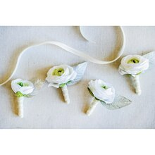 Champagne Wedding Boutonniere