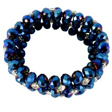 Darice Crystal Beads & Rhinestones Bracelet, Dark Royal