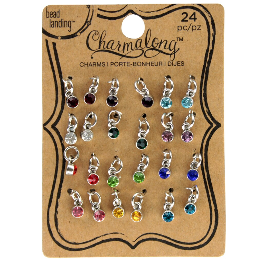 Bead landing charmalong 24 mini glass charms for Jewelry making supply store