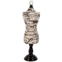 Darice Fabric Covered Jewelry Display, French Text