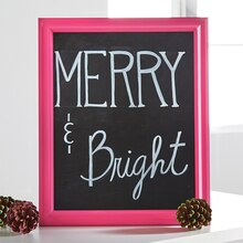 Merry & Bright Chalkboard Sign