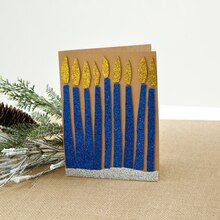 Glitter Menorah Card