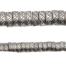 Bead Gallery Sterling Silver-Plated Snake Design Beads, Close Up