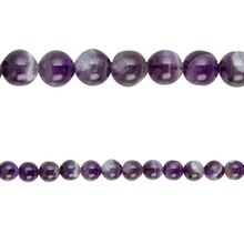 Bead Gallery Amethyst Round Beads, Close Up