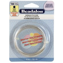 Beadalon German Style Wire, Round, 18 Gauge