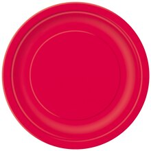 "9"" Red Dinner Plates, 8ct"