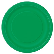 "7"" Emerald Green Dessert Plates, 8ct"