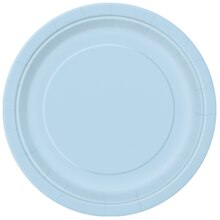 """9"""" Baby Blue Dinner Plates, 8ct"""