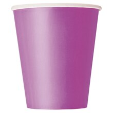 9 oz. Purple Paper Cups, 8ct