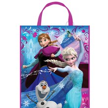 "Large Plastic Frozen Favor Bag, 13"" x 11"""