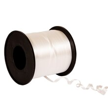 White Curling Ribbon, 500 yd.