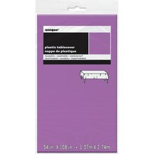 Plastic Purple Table Cover, 108 x 54, Package