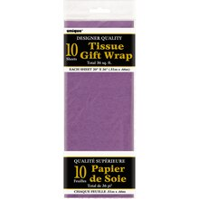 Tissue Paper Sheets, Purple 10ct, Package