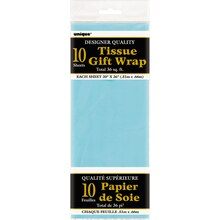 Tissue Paper Sheets, Baby Blue 10ct