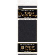 Tissue Paper Sheets, Black 10ct, package