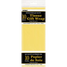Tissue Paper Sheets, Yellow 10ct