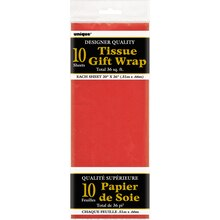 Tissue Paper Sheets, Red 10ct