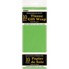 Tissue Paper Sheets, Lime Green 10ct, Package