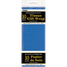 Tissue Paper Sheets, Royal Blue 10ct, Package