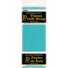 Tissue Paper Sheets, Teal 10ct, Package