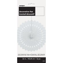 "White Tissue Paper Decorative Fan, 16"", Package"