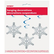"26"" Hanging Snowflake Decorations, 3ct, Package"