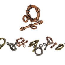 Bead Gallery Metal Toggle Clasp, Multi Plated, Close Up