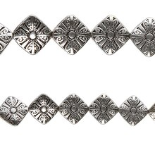 Bead Gallery Sterling Silver-Plated Diamond Beads, Close Up