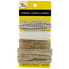 Bead Landing Jute Mix, Natural & White