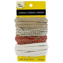 Bead Landing Jute Mix, Natural, Red & White