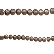 Bead Gallery Czech Glass Lentil Luster Beads, Silver